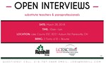 Open Interviews March 28th
