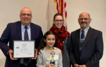 Alicia Elyassi Winner of Lake County Spelling Bee
