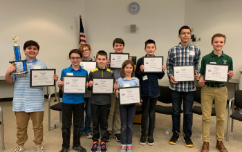 Geauga County Spelling Bee Winner and Participants