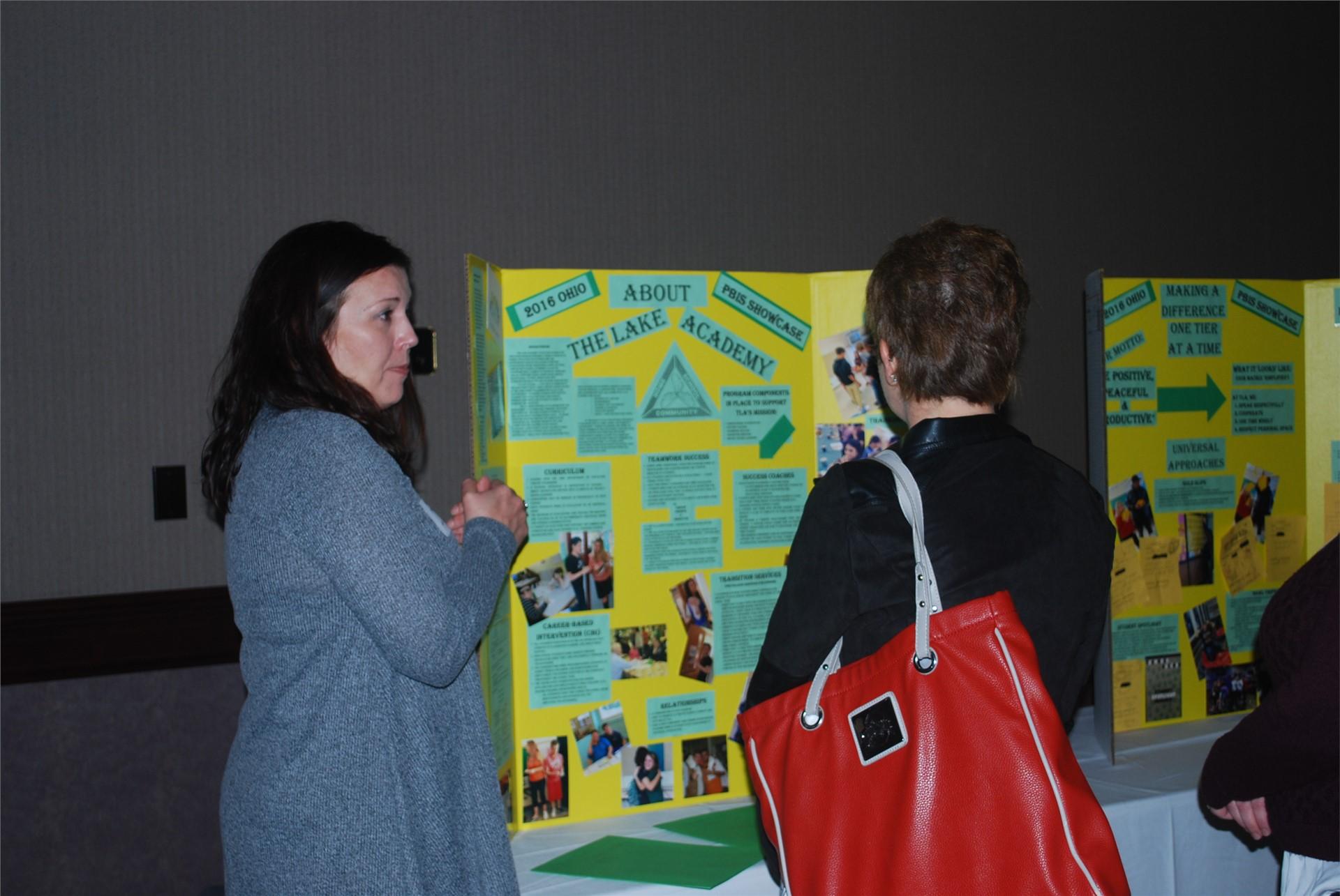 Shari Pfeiffer presenting about The Lake Academy Alternative School
