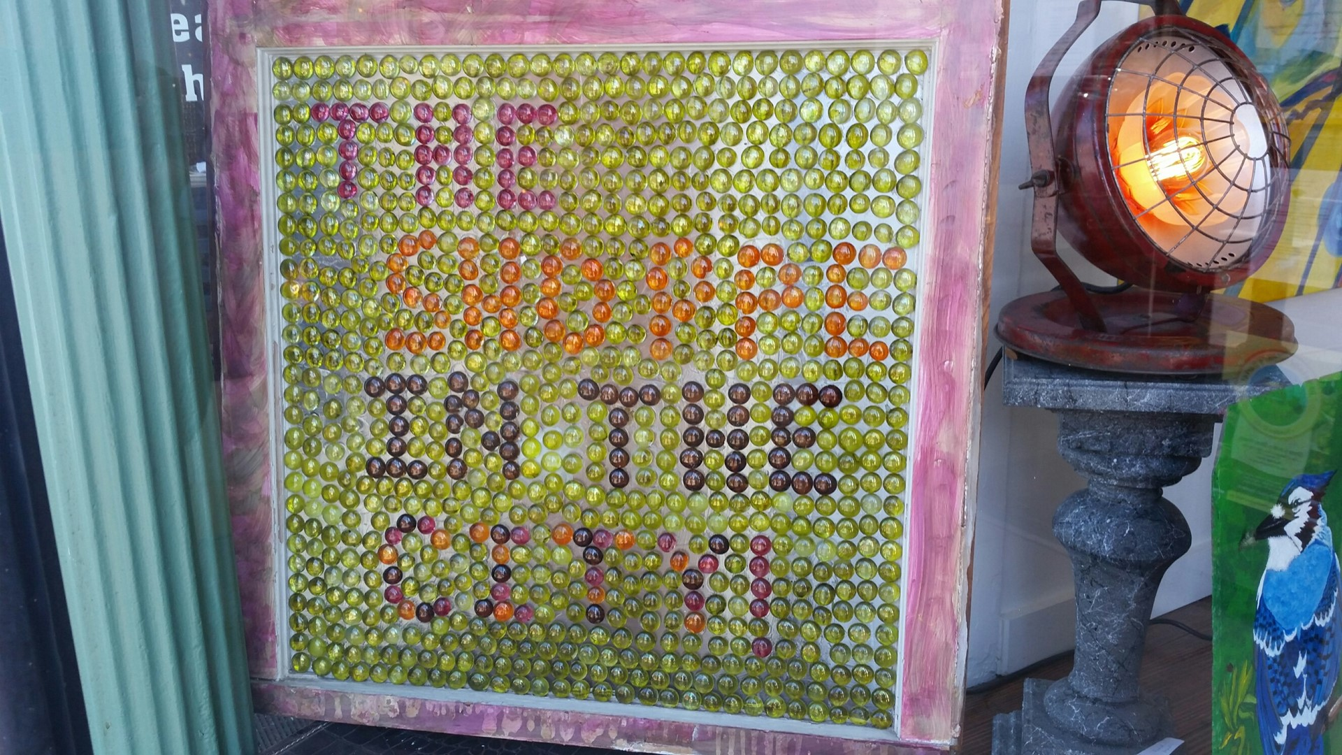 The Shoppe in the City Beaded window