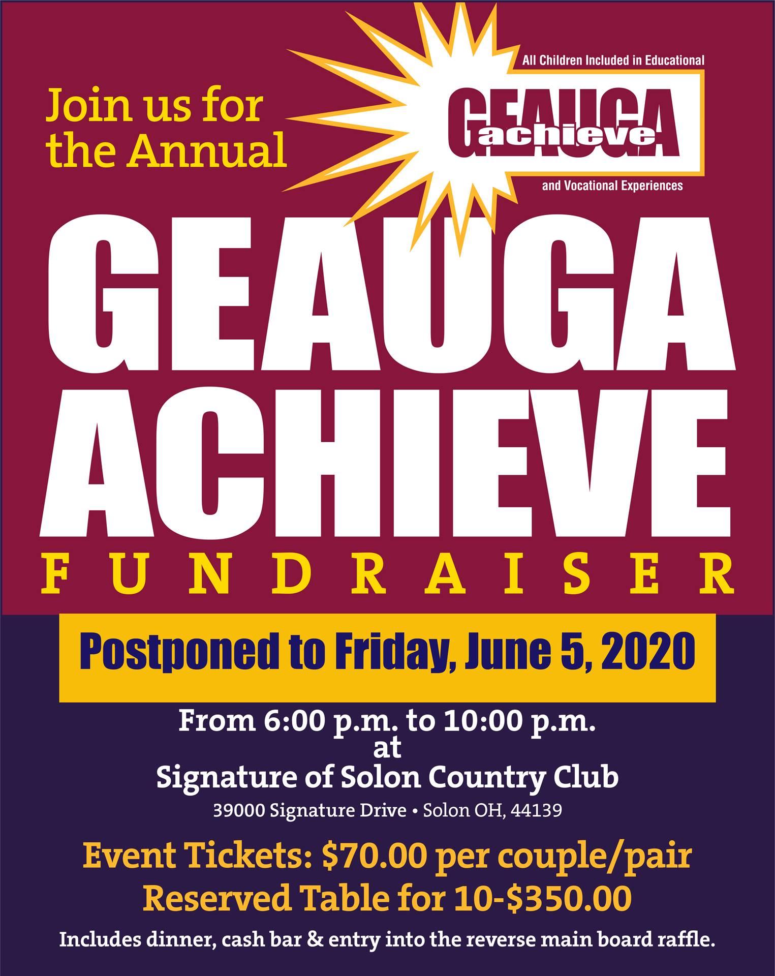 Annual Achieve Fundraiser 2020