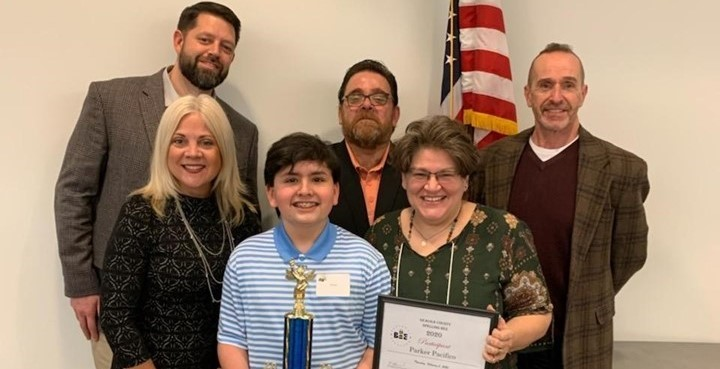 Parker Pacifico winner of the 37th Annual Geauga County Spelling Bee!