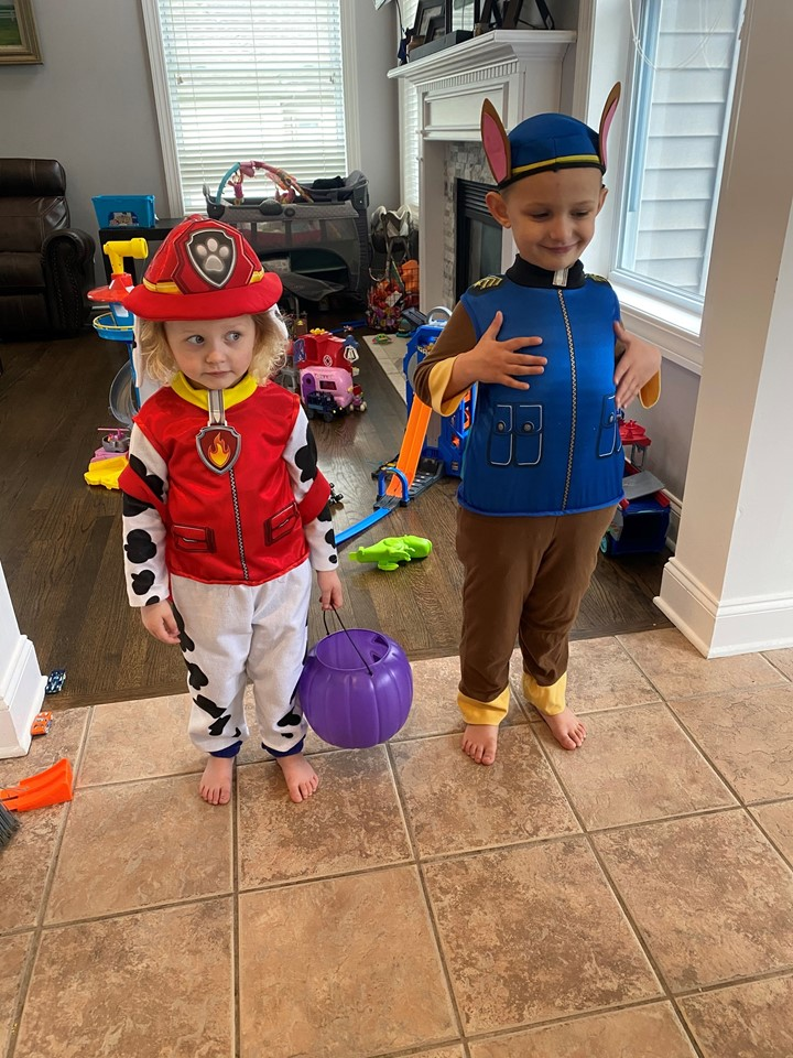 Students dressed up like paw patrol