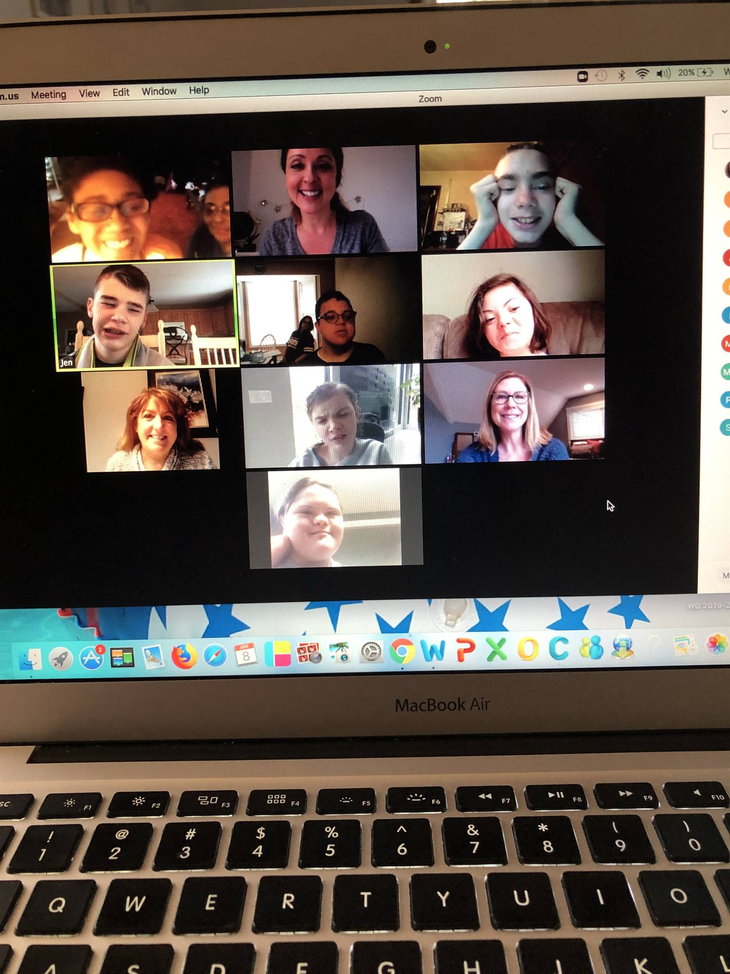 ACHIEVE students participating in a Zoom Meeting with their teacher