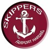 Fairport Harbor EVS logo - a white anchor with the word skippers in a maroon circle